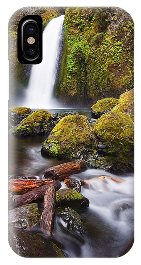 Waterfall IPhone X Case featuring the photograph Wahclella by Mike Dawson
