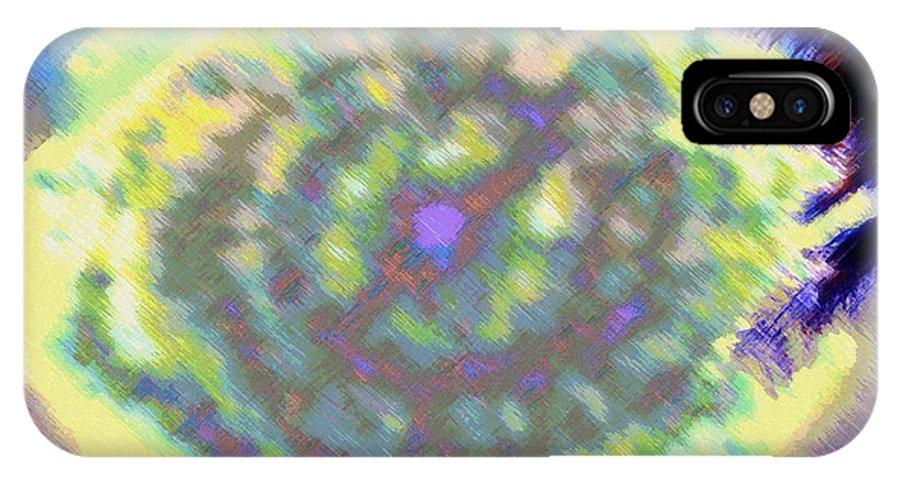 Rainbow Colors Digital IPhone X Case featuring the photograph Waho Ka Manawa by Kenneth Grzesik