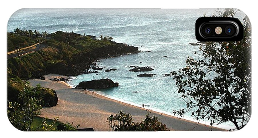 The Beach IPhone X Case featuring the photograph Waimea Bay by Chandelle Hazen