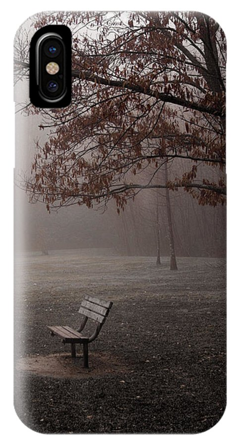 Bench IPhone X Case featuring the photograph Waiting by Ayesha Lakes