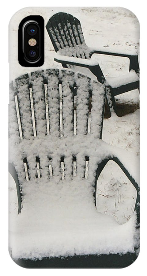 Chairs IPhone X Case featuring the photograph Waiting For Spring by Diana Davenport