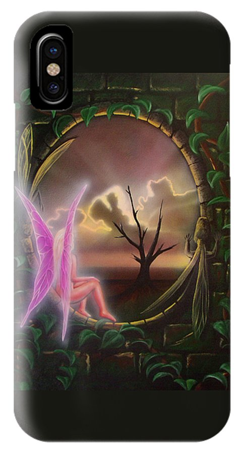 Fairy IPhone X Case featuring the painting Waiting For Spring by Shaun McNicholas