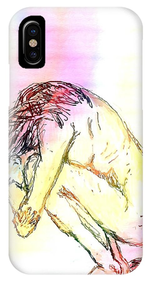 Lady IPhone Case featuring the digital art Waiting For The Wounds To Heal by Shelley Jones