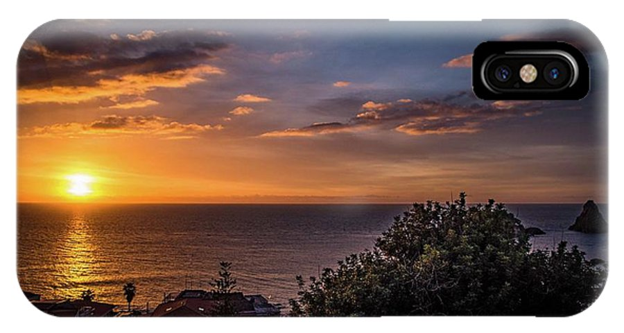 Sunrise IPhone X Case featuring the photograph Waiting by Larkin's Balcony Photography
