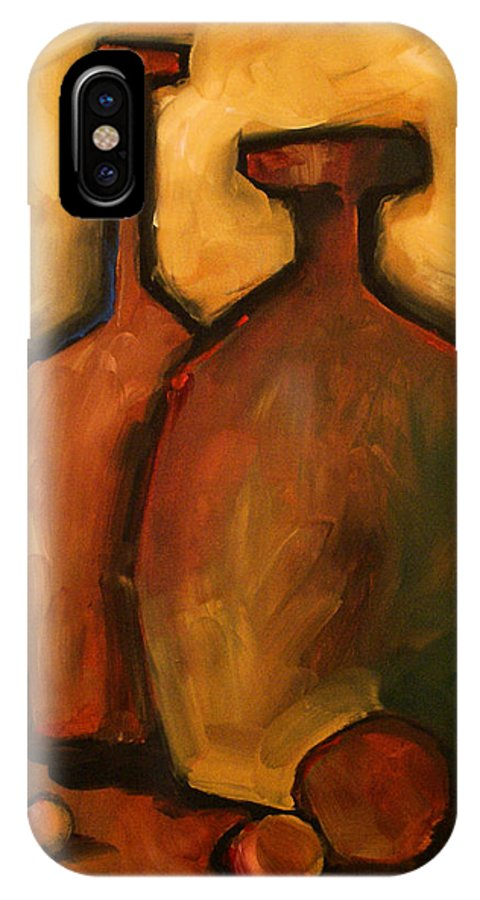 Still Life IPhone X Case featuring the painting Waiting by Michael Lang