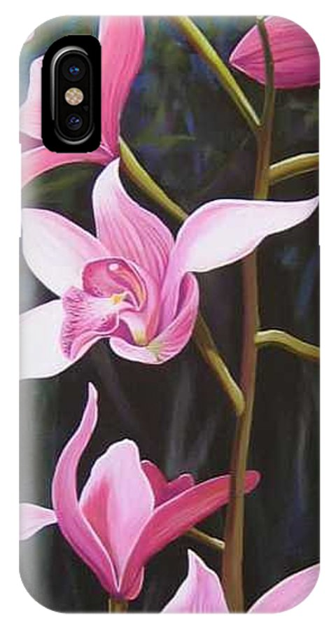 Orchids In Italy IPhone X Case featuring the painting Waking Up In The Sun by Hunter Jay