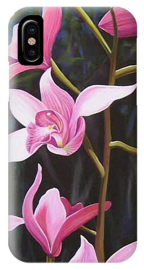 Orchids In Italy IPhone X / XS Case featuring the painting Waking Up In The Sun by Hunter Jay