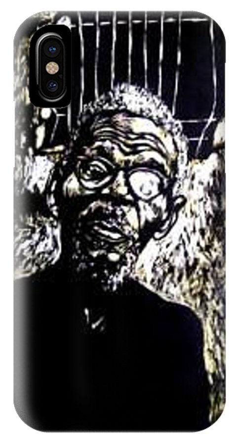 IPhone X / XS Case featuring the mixed media Walimu Wally by Chester Elmore