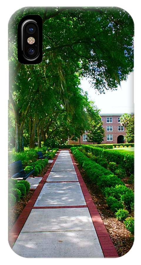 Walking Fsu IPhone X Case featuring the photograph Walk To The Dorm by Bennett Thompson