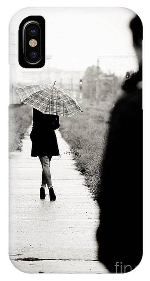 Woman IPhone X Case featuring the photograph Walking Away by Gabriela Insuratelu