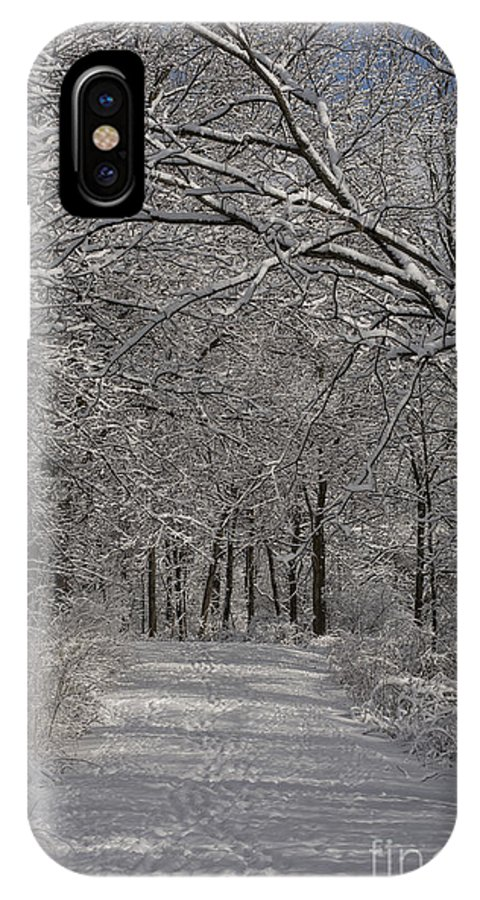 Woods IPhone X / XS Case featuring the photograph Walking In The Woods by David Bearden