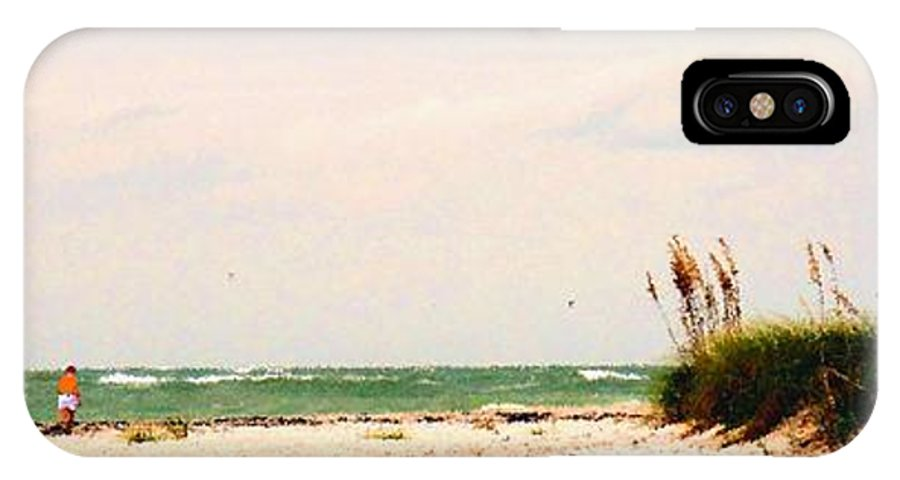 Florida IPhone X Case featuring the photograph Walking The Beach by Ian MacDonald