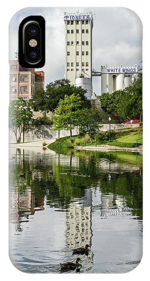 San Antonio IPhone X Case featuring the photograph Walking The San Antonio River by Allen Sheffield