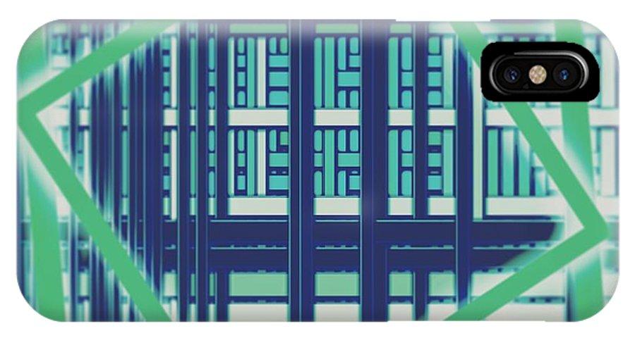 Wallpaper IPhone X Case featuring the digital art Wallpaper 30 by Marko Sabotin