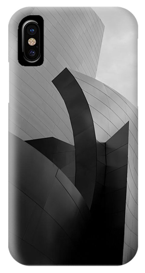 Landscape IPhone X Case featuring the photograph Walt Disney Concert Hall by Justin Pernas