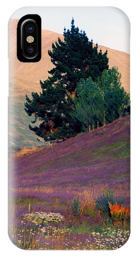 New Zealand IPhone X Case featuring the photograph Wanaka Heather by Kevin Smith