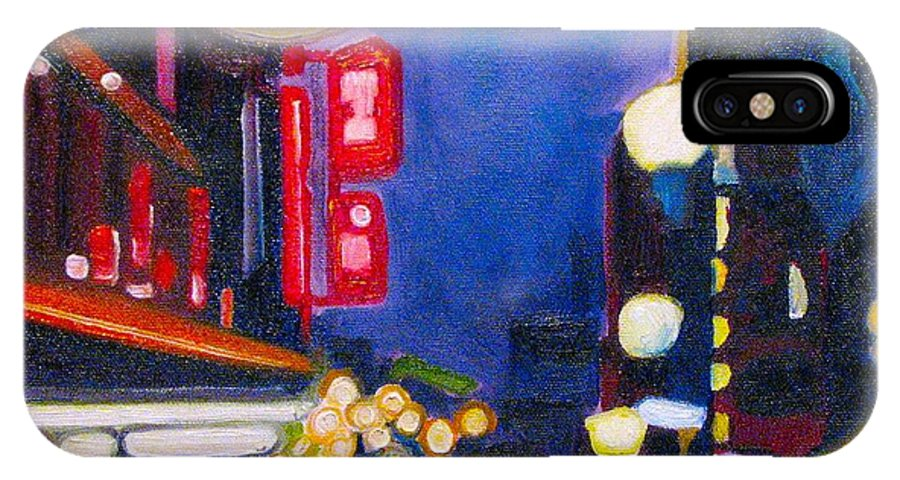 Night Scene IPhone X Case featuring the painting Wandering At Dusk by Patricia Arroyo