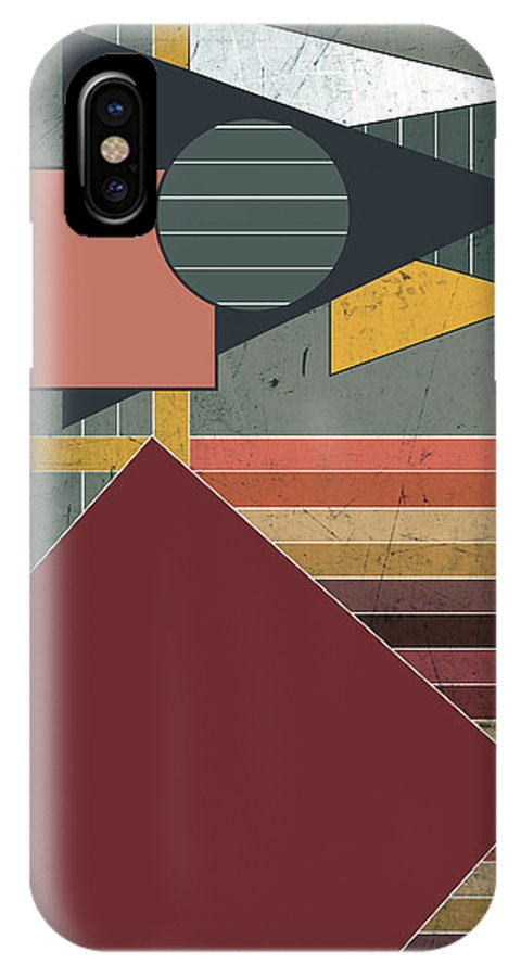 Colors IPhone X Case featuring the digital art Warm Colors by Roshestta Design
