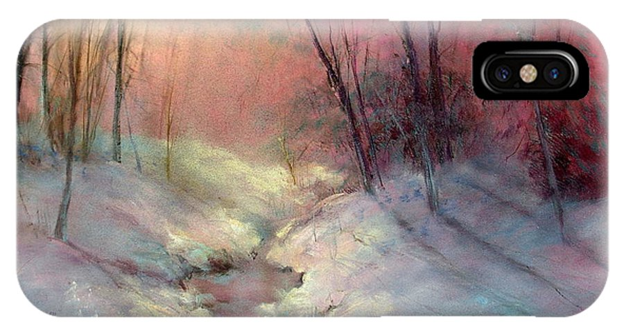 Snow IPhone Case featuring the painting Warm Glow by Sally Seago