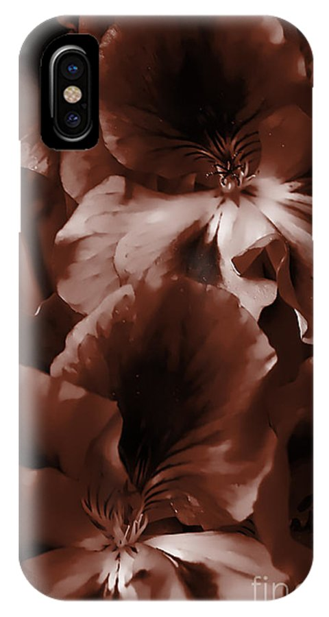 Clay IPhone Case featuring the photograph Warm Tone Monochrome Floral Art by Clayton Bruster