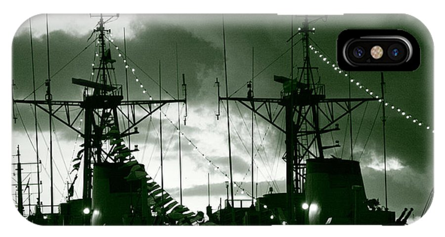 Antenna IPhone X Case featuring the photograph Warships At Twilight by Gaspar Avila