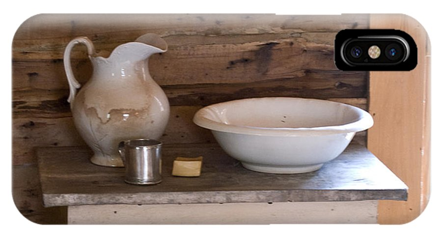 Wash IPhone Case featuring the photograph Wash Bowl Pitcher And Cup by Douglas Barnett