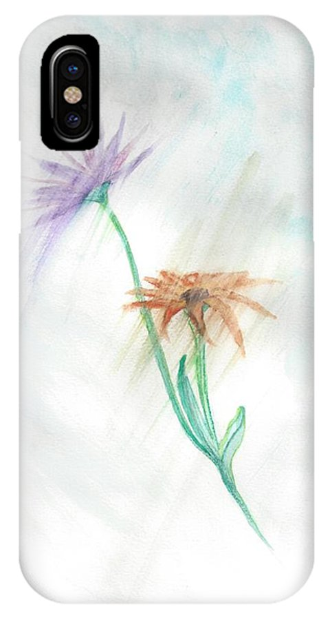 Flowers IPhone X Case featuring the painting Washing Away by Judy Hall-Folde