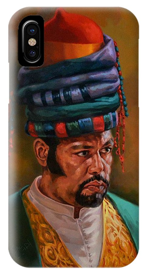 Oriental IPhone X / XS Case featuring the painting Bashbozuk by Ahmed Bayomi