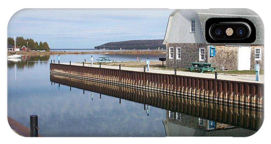 Washington Island IPhone X Case featuring the photograph Washington Island Harbor 2 by Anita Burgermeister