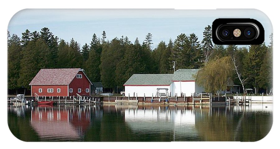 Washington Island IPhone X Case featuring the photograph Washington Island Harbor 7 by Anita Burgermeister