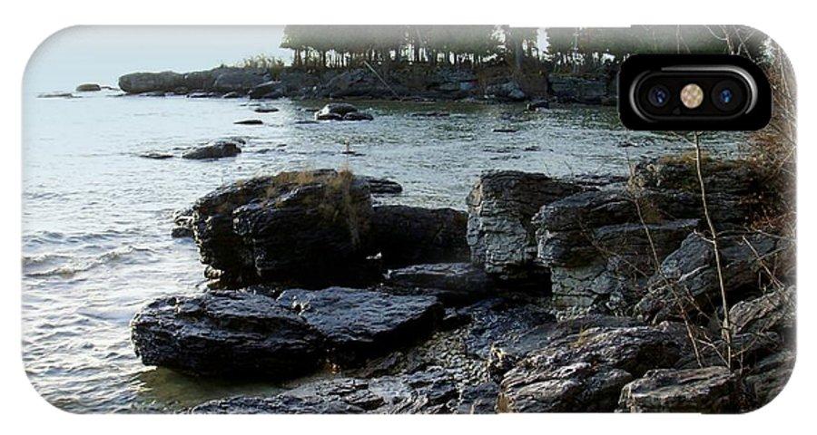 Washington Island IPhone X Case featuring the photograph Washington Island Shore 1 by Anita Burgermeister
