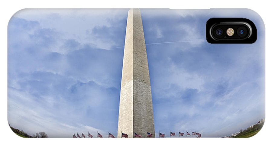 America IPhone X Case featuring the photograph Washington Monument by Joan Carroll