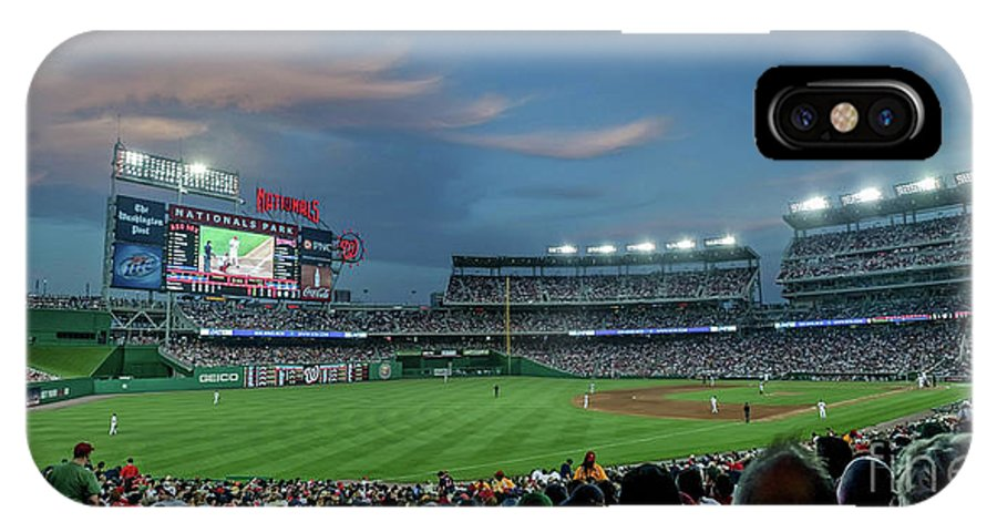 Red Sox IPhone X Case featuring the photograph Washington Nationals In Our Nations Capitol by Thomas Marchessault
