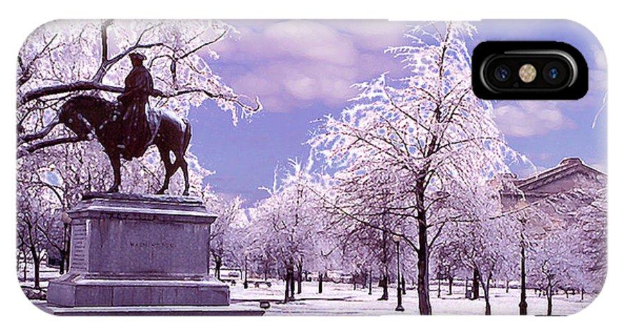 Landscape IPhone X Case featuring the photograph Washington Square Park by Steve Karol