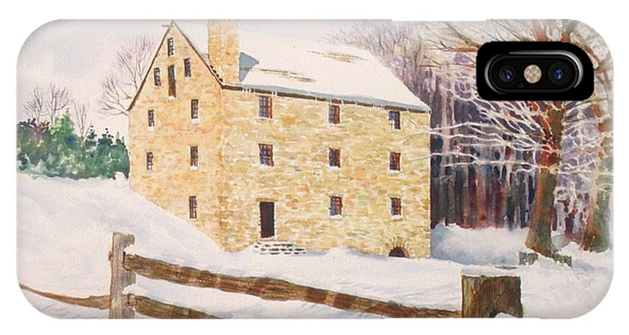 Landscape IPhone Case featuring the painting Washington's Grist Mill by Tom Harris