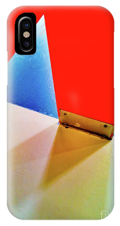 Abstract IPhone X Case featuring the photograph Washroom Indoor Structure Architecture Abstract by Stephan Pietzko