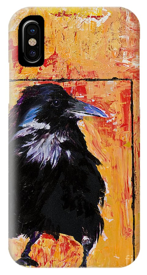 Large Decorative Fine Art Prints IPhone X Case featuring the painting Watch And Learn by Pat Saunders-White