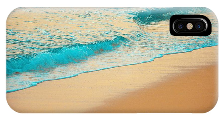 Sand IPhone X Case featuring the photograph Water And Sand by G Ward Fahey