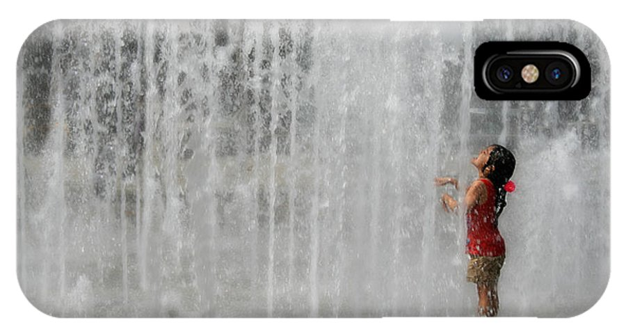 Water IPhone X Case featuring the photograph Water Dance by Perry Webster
