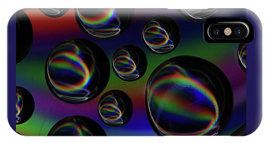 Saskatchewan IPhone X Case featuring the photograph Water Droplets 5 by Andrea Lawrence