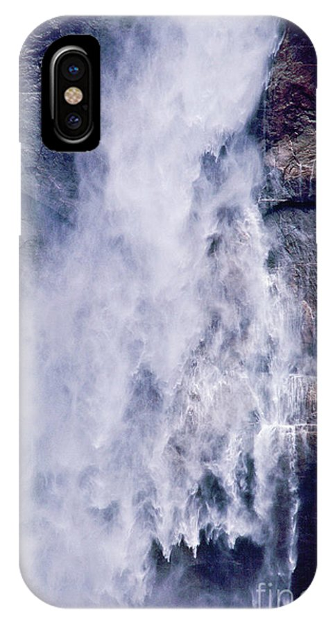 Waterfall IPhone X Case featuring the photograph Water Drops by Kathy McClure
