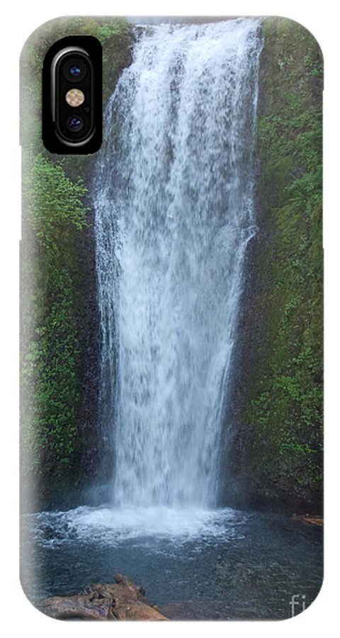 Waterfall IPhone X Case featuring the photograph Water Fall by Shari Nees