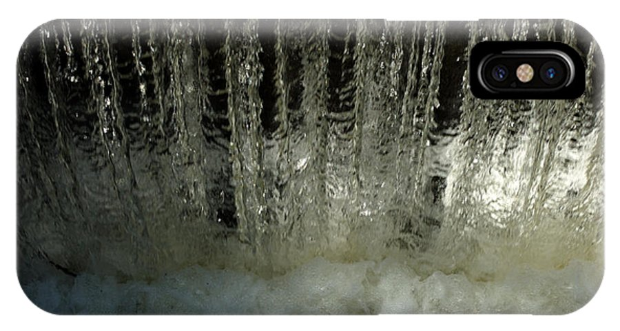 Water IPhone X Case featuring the photograph Water Frozen by Barry Doherty
