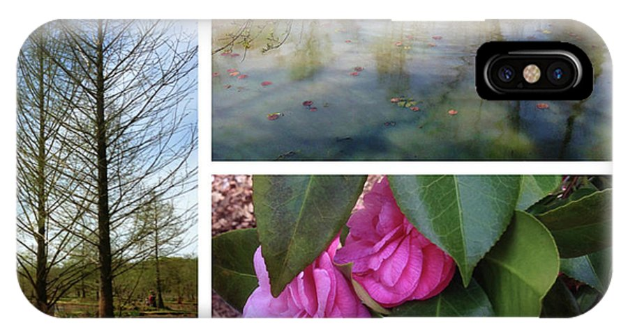 IPhone X Case featuring the photograph Water Garden Three Views by Iris Posner