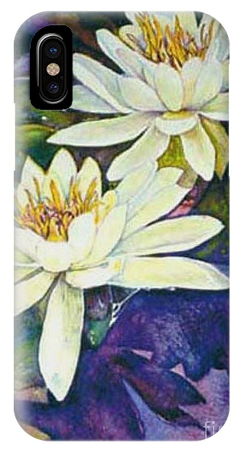 Flower IPhone Case featuring the painting Water Lilies by Norma Boeckler
