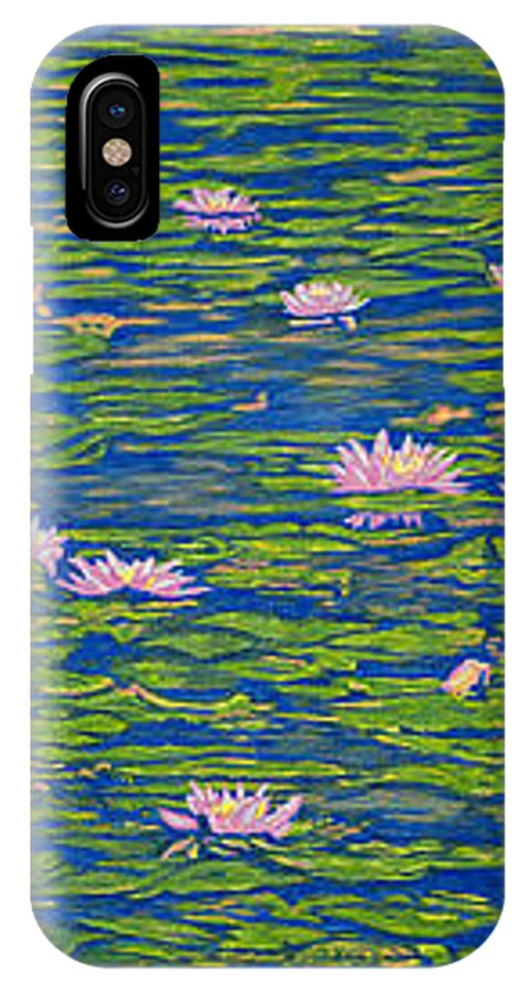 Lotuses IPhone Case featuring the drawing Water Lily Flowers Happy Water Lilies Fine Art Prints Giclee High Quality Impressive Color Lotuses by Baslee Troutman