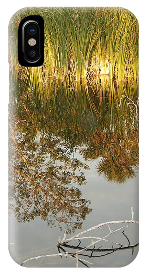 Wood IPhone X Case featuring the photograph Water Line by Rob Hans