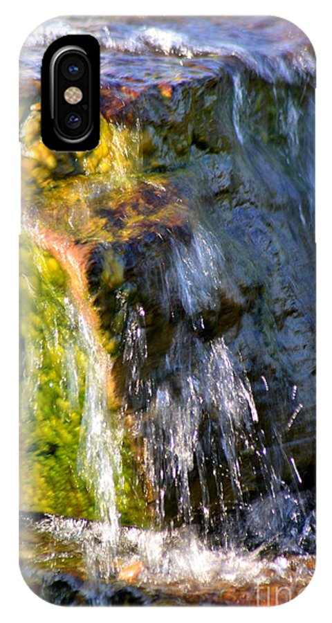 Water IPhone X / XS Case featuring the photograph Water Running Over Rocks by Belinda Stucki