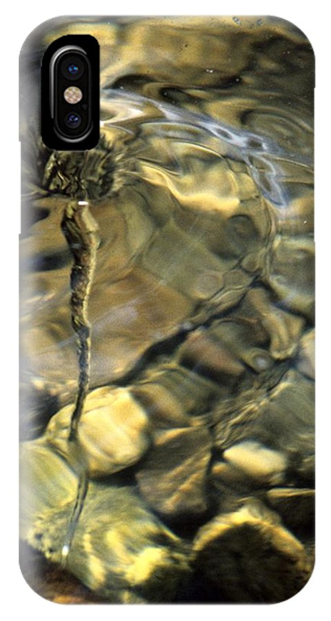 Water Creek Fourmile Canyon Spout Nature Water Rocks Colorado IPhone X Case featuring the photograph Water Spout by George Tuffy