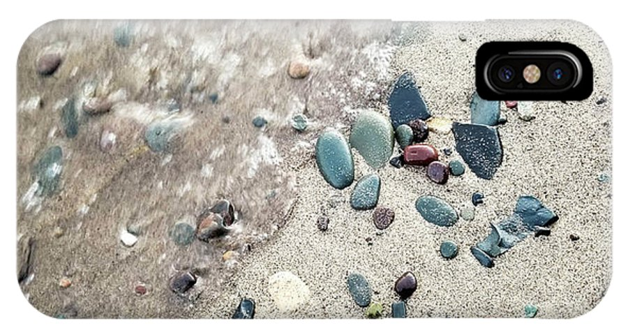 IPhone X Case featuring the photograph Water Stones by Brian Wimmer